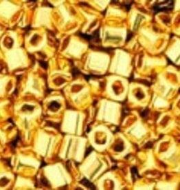 8 GM Toho Cube 1.5mm : Metallic-24K Gold Plate (APX 850 PCS)