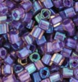 8 GM Toho Cube 1.5mm : Inside -Color Rainbow Rosaline/Opaque Purple Lined (APX 850 PCS)