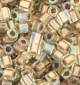 8 GM Toho Cube 1.5mm : Gold-Lined Rainbow Crystal (APX 850 PCS)