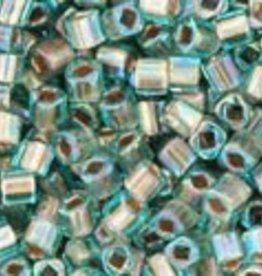 8 GM Toho Cube 1.5mm : Gold-Lined Rainbow Aqua (APX 850 PCS)