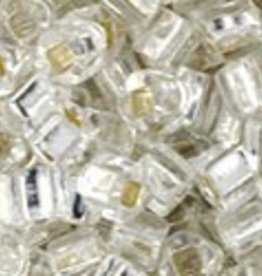 8 GM Toho Cube 3mm : Silver-Lined Crystal (APX 150 PCS)