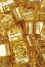 8 GM Toho Cube 3mm : Silver-Lined Lt Topaz (APX 150 PCS)