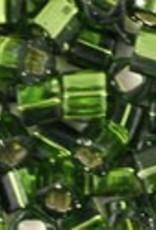8 GM Toho Cube 3mm : Silver-Lined Olivine (APX 150 PCS)