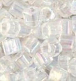 8 GM Toho Cube 3mm : Trans-Rainbow Crystal (APX 150 PCS)