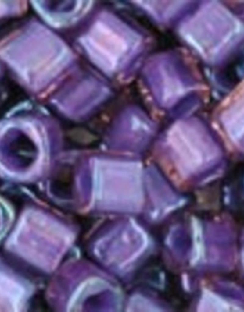 8 GM Toho Cube 3mm : Inside-Color Rainbow Rosaline/Opaque Purple Lined (APX 150 PCS)