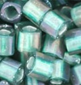 8 GM Toho Cube 4mm : Inside-Color Crystal/Teal Lined (APX 75 PCS)