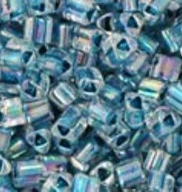 8 GM Toho Triangle 11/0 : Inside-Color Rainbow Crystal/Capri Lined (APX 550 PCS)