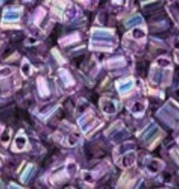 8 GM Toho Triangle 11/0 : Inside-Color Rainbow Crystal/Tanzanite Lined (APX 550 PCS)