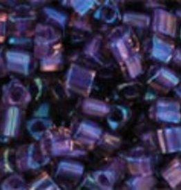 8 GM Toho Triangle 11/0 : Inside-Color Rainbow Rosaline/Opaque Purple Line (APX 550 PCS)d