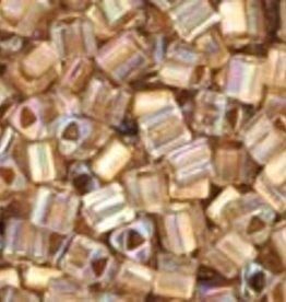 8 GM Toho Triangle 11/0 : Gold-Lined Rainbow Crystal (APX 550 PCS)