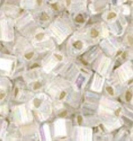8 GM Toho Triangle 11/0 : Silver-Lined Rainbow Crystal (APX 550 PCS)