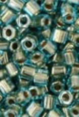 8 GM Toho Hex 11/0 : Gold-Lined Aqua (APX 700 PCS)