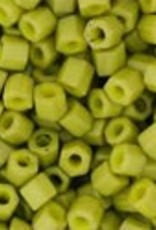 8 GM Toho Hex 11/0 : Opaque-Frosted Pea Green Soup (APX 700 PCS)