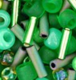8 GM Toho Multi-Shape/Color Mix : Wasabi- Green Mix