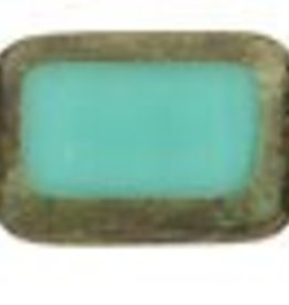 24 PC 8x12mm Table Cut Rectangle : Turquoise Picasso