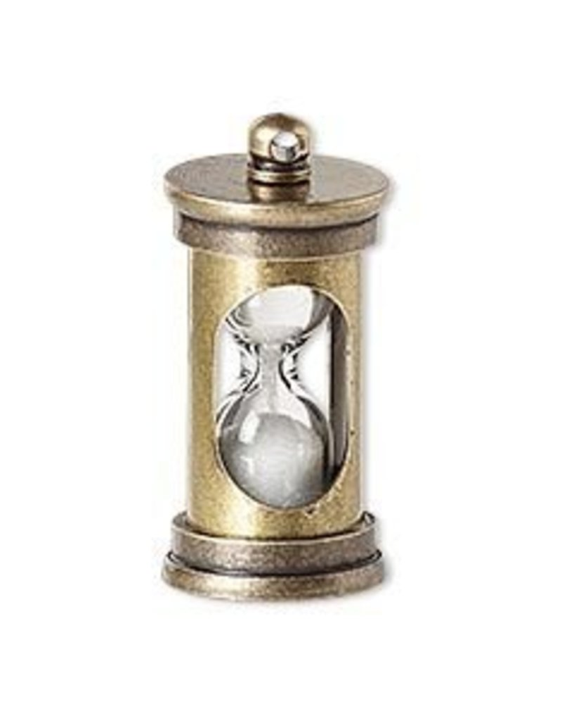 1 PC ABP 29x14mm Hourglass Charm