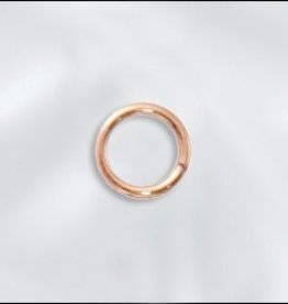 10 PC Rose Gold Filled - 6mm 20GA Round Jump Ring