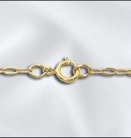 "1 PC 24"" Gold Filled Drawn Cable Chain w/ Springring"