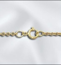 "1 PC 24"" Gold Filled Cable Chain w/ Springring"