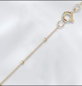 "1 PC 24"" Gold Filled Satellite Chain w/ Springring"