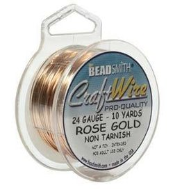 10 YD 24GA Craft Wire : Rose Gold