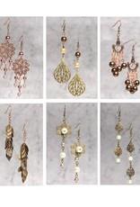 Gold & Bronze Earring Class In a Box Kit