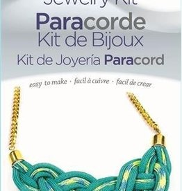 Teal Necklace Paracord Jewelry Kit