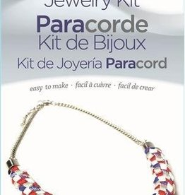 Red/White/Blue Necklace Paracord Jewelry Kit