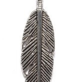 2 PC ASP 9x29mm Feather Charm