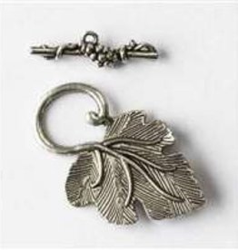 2 Set ASP 23x27mm Grape Leaf Toggle Clasp