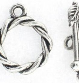 2 Set ASP 19x16mm Twist Toggle Clasp