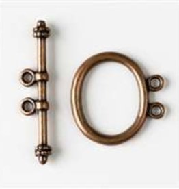 2 Set ACP 21mm Oval 2 Hole Toggle Clasp