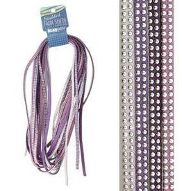 8 Meters 5mm Studded Faux Suede : Lilac Mix
