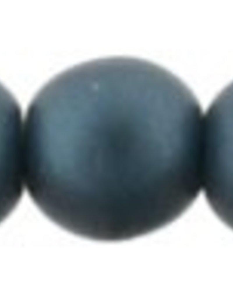 50 PC 4mm Round : Matte Steel Blue