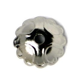 25 PC GMP 8mm Scalloped Bead Cap