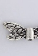 6 PC ASP Lg Feathered Dragonfly Wing Bead