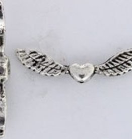 6 PC ASP Lg Heart Wing Bead