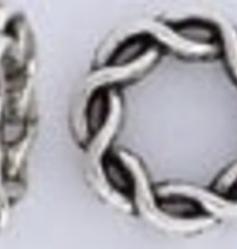 5 PC ASP 15mm Braided Ring Bead