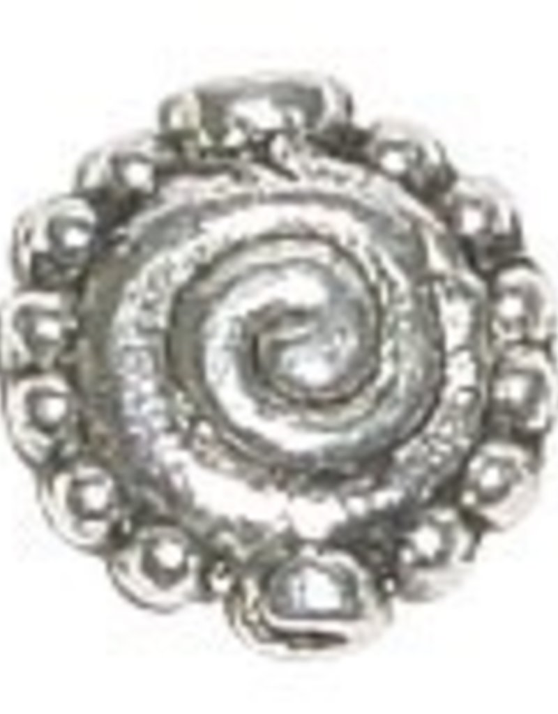 10 PC ASP 11mm Flat Round Swirl Bead