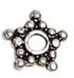 25 PC ASP 6mm Star Spacer Bead