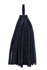 "1 PC 3"" Large Nappa Leather Tassel : Black"