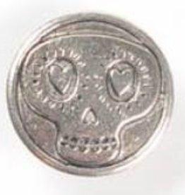 1 PC ASP 17x6mm Skull Button