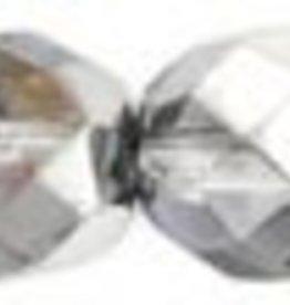 25 PC Firepolish 8mm : Silver/Blue/Crystal