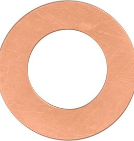 1 PC 22GA 22mm Solid Copper Ring Blank