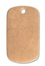 1 PC 24GA 29x16mm Solid Copper Dog Tag Blank With Hole
