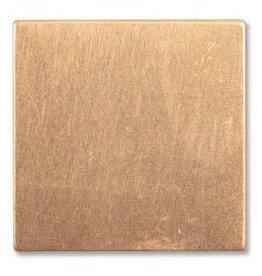 """1 PC 24GA 7/8"""" Solid Copper Square Blank"""
