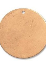 1 PC 24GA 19mm Solid Copper Round Blank With Hole
