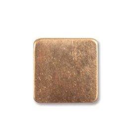 """2 PC 24GA 1/2"""" Solid Copper Square Blank"""