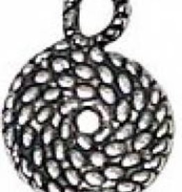 4 PC ASP 15x11mm Coiled Rope Charm