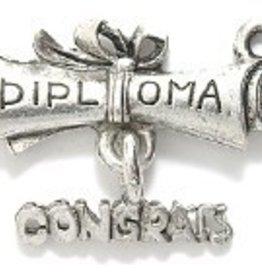 "1 PC ASP 20x16mm ""Congrats Diploma"" Charm"